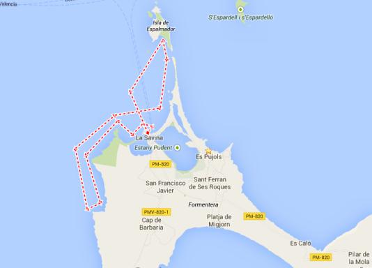 mapa ruta excursions